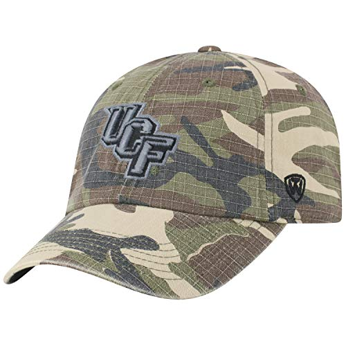 Central Golf Florida Gear - Top of the World Central Florida Knights Official NCAA Adjustable Heroes Woodland Camo Hat Cap 420141