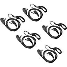 Two Way Radio Earpiece LSENG 3.5mm 2-Pin with PTT Mic - For( Baofeng,Kenwood,TYT, Puxing, Wouxun) – Pack of 5