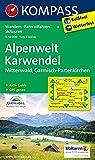 Alpenwelt Karwendel - Mittenwald - Garmisch-Partenkirchen: Wanderkarte mit Aktiv Guide, Radrouten und Skitouren. GPS-genau. 1:50000: Wandelkaart 1:50 000 (KOMPASS-Wanderkarten, Band 6)