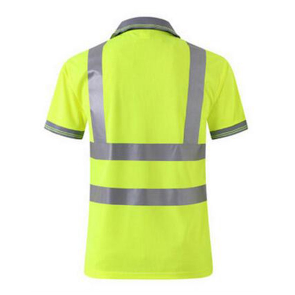TOPTIE 50 PCS Men's Polo Shirts, Short Sleeve Safety Neon Yellow Shirt for Night Running Wholesale by TOPTIE (Image #3)