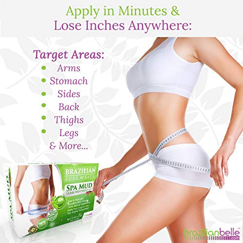Brazilian Body Wraps - Spa Mud Home Treatment Kit for Women Slimming Home Spa Treatment for Cellulite, Weight Loss, Stretch Marks by Brazilian Belle (Image #5)