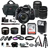 Canon EOS Rebel T6i EF-S 18-135mm IS STM and 75-300mm Lenses + 32GB Deluxe Kit