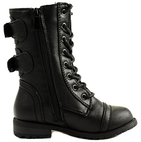 Mango 61KK Little Kids Combat Lace Up Boots