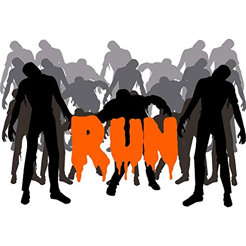 Headsweats 9700-201SZOMRUN Zombie Runner Sweat Band, White, One Size