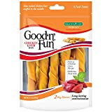 Good 'N' Fun Rawhide Twists, Chicken Liver Recipe, 6-Count Larger Image