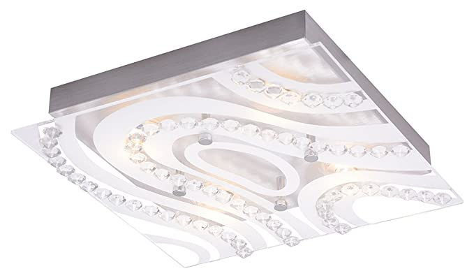 Haysom Interiors Modern Led Bathroom Light With Clear Frosted Glass