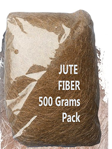 AAYU Brand Premium Jute Fiber Moss | Natural Fiber 500 Grams or 17.6 ounces | Eco-Friendly, Natural, Organic Product | No Artificial Color, Excellent Fiber Material | Pet Bed and (Crafts Bed Bolster)
