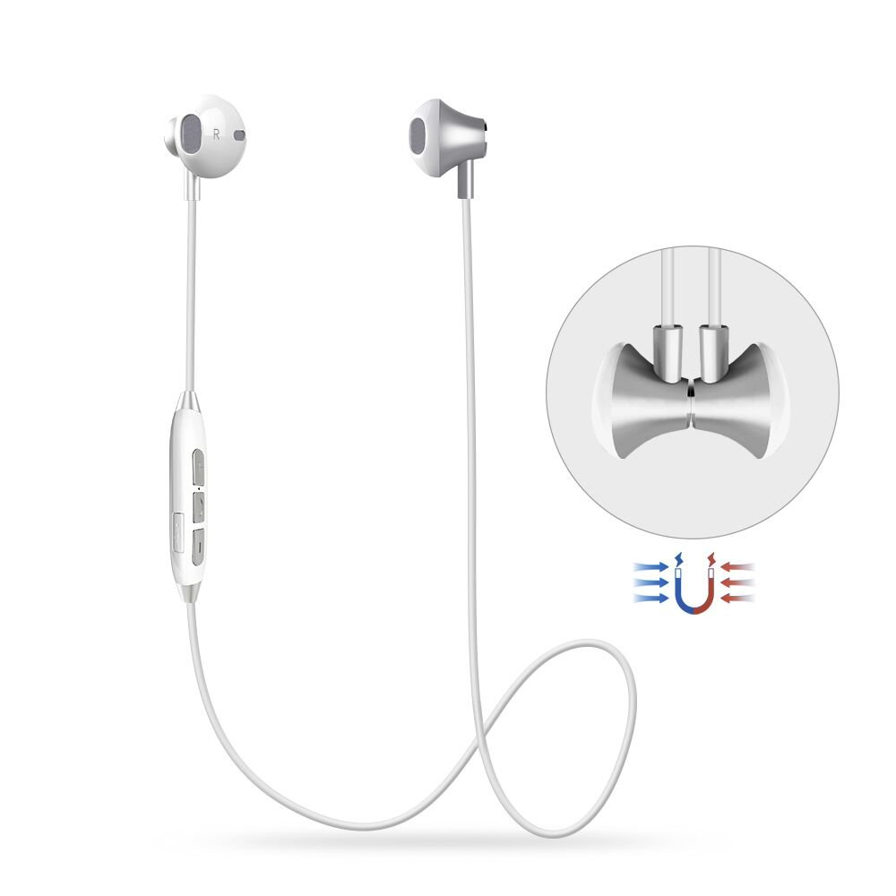 Auriculares Bluetooth Magnéticos Auriculares Deportivos Inalámbricos, HD Stereo In-Ear Auriculares con Micrófono,
