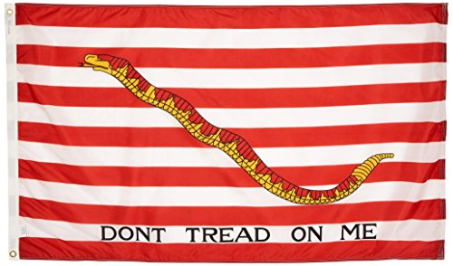 (US Flag Store 1st Navy Jack Flag, 3 by 5-Feet, Don't Tread on Me)