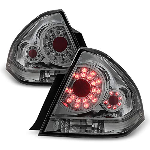 ACANII - For Smoke 2006-2013 Chevy Impala SS SMD LED Tail Lights Brake Lamps 06-13 Left+Right