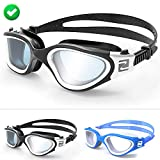 ZABERT Adults Swim Goggles,Pro Swimming Goggles for Women Men Youth Kids Age 8+ Years – Clear/Tint Lens Anti-Fog/UV Large Size Wide View NO Leak Comfort- Indoor/Open Water – Free Ear Plugs Nose Clip