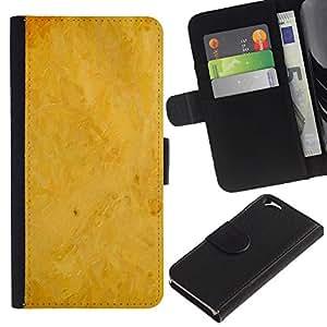 KingStore / Leather Etui en cuir / Apple Iphone 6 / Fondo amarillo