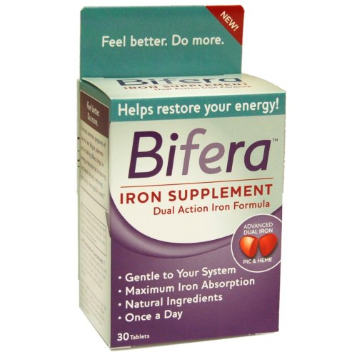 Bifera Dual Action Iron Supplement, 30 Tablets