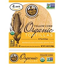 La Tortilla Factory Yellow Corn Organic Tortillas 4 Pack (32 Tortillas)