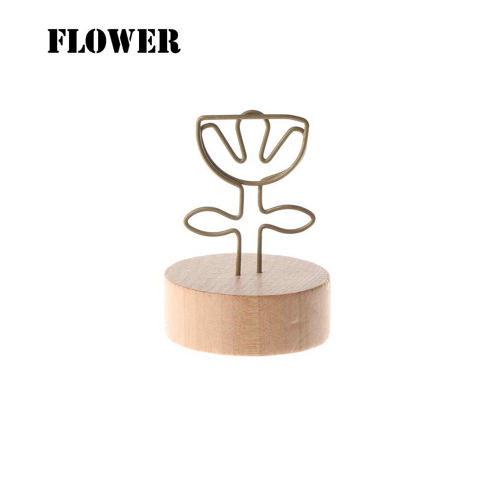 manualidades madera hierro forjado Clip para fotos figuras de escritorio Tree decoraci/ón del hogar soporte para notas bricolaje