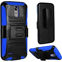 HR Wireless Cell Phone Case for LG Stylo 3 - Black/Dark Blue