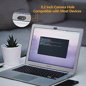 Webcam Cover 0.03 inch Ultra Thin (3 Pack), Nano-Shield Web Camera Cover for Laptop, Desktop, PC, Macboook Pro, iMac, Mac Mini, Computer, Smartphone