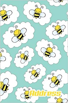 Address.: Address Book. (Vol. C30) Cute Bee Cover Design. Glossy Cover,Contract Large Print, Font, 6