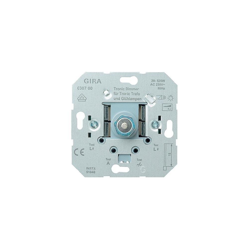 Gira Tronic-Dimmer-Einsatz mit Druck- Wechselschalter, 20-525 W ...