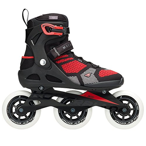 Rollerblade Men's Macrob 110 3Wd Fitness Inline Skate, Black/Red, Size 10 ()