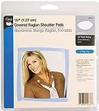 "Dritz 1/2"" Covered Raglan Shoulder Pads-White 2/Pkg"