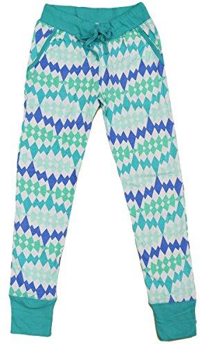 PJ Licious Junior's Pattern Print Comfy Stretch Lounge Pajama Pants (2X, Teal Diamond)