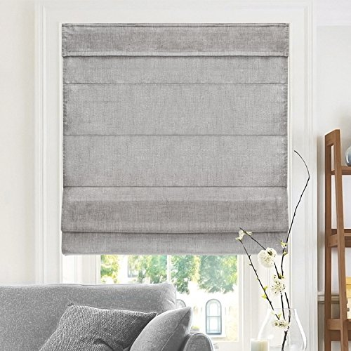 "CHICOLOGY RMBD2764 Cordless Roman Shades, 27"" W X 64"" H, Belgian Denim (Privacy & Light Filtering)"