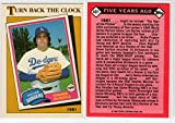 Fernando Valenzuela 1986 Topps Turn Back The Clock Collectors Edition Tiffany Los Angeles Dodgers