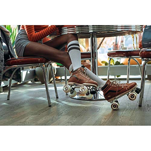 Chaya New Vintage Brown Neat Quad Roller Skates - Vegan (EU 40 / US 9) by Chaya (Image #3)