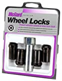 McGard 25112 Chrome/Black (M14 x 1.5 Thread Size) Tuner Style Cone Seat Wheel Lock, (Set of 4)