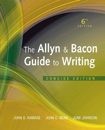 Allyn & Bacon Guide to Writing, The, Concise Edition Plus NEW MyCompLab -- Access Card Package (6th Edition)