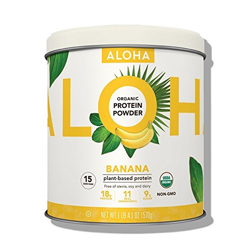 Meal Banana - ALOHA Organic Plant Based Protein Powder, Stevia Free, Banana, 4.1 oz, 15 Servings