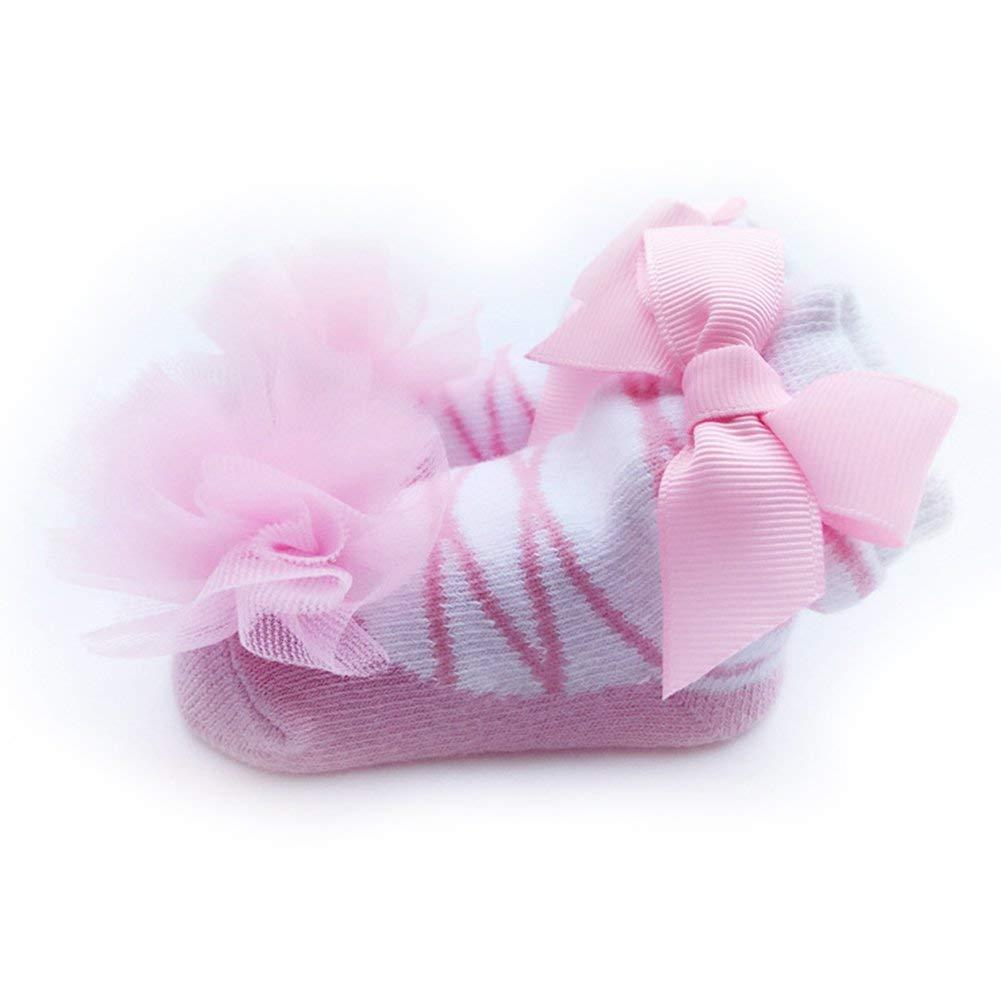Carry stone Newborn Baby M/ädchen Prinzessin Ballett Design Socken Spitze Bowknot Decor Baumwollsocken Praktisch und n/ützlich