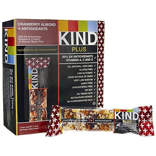 Kind Fruit + Nut Bar - Antioxidants/ Cranberry / Almond, 12ct, 1.4oz