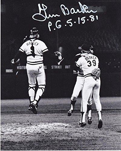 Len Barker Autographed Picture - PERFECT GAME 5 15 81 8x10 - Autographed MLB Photos ()