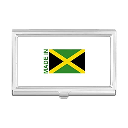 Amazon Com Made In Jamaica Country Love Business Card Holder Case