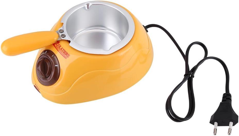 Services de fondue de chocolate eléctrico - Chocolatera 220 V olla de chocolate caldera para pinchos de fruta barniz de los pasteles regalo para Navidad, fiestas cumpleaños
