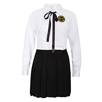 KESOTO Uniforme Escolar Camiseta con Falda Corta Plisada Traje de ...