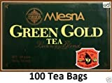 Mlesna Ceylon Green Gold Tea Luxury Blend – Premium quality 100 Tea Bags 200g (7.05 Oz) Review