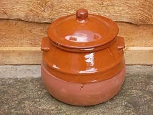Valdearcos - Cazuela de barro para guisos (2 L, 20 x 21 cm), color marrón