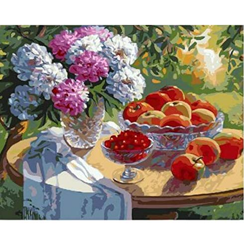 505 Apple (CYKEJISD Cherry Apple Flowers in The Wild Table Painting by Numbers DIY Picture Drawing Coloring On Canvas Painting by Hand)