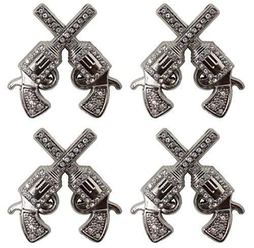 - Lot of 4 Conchos Rhinestone Horse Saddle Western Silver Bling Tack Bridle CO201