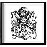 Wall Art Print -Octopus Diver