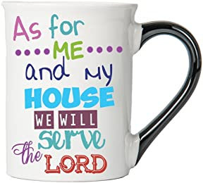 As For Me And My House We Will Serve The Lord Mug , Inspirational Coffee Cup, Inspirational Mug, Ceramic Mug, Custom Inspirational Gifts By Tumbleweed