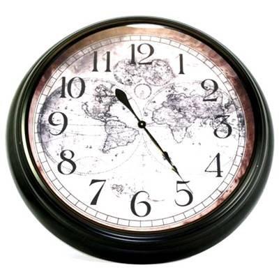 Stunning 93cm antique style world map extra large wall clock amazon stunning 93cm antique style world map extra large wall clock gumiabroncs Image collections