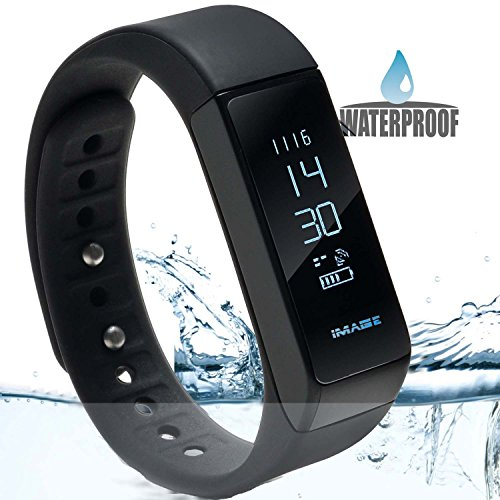 Image Waterproof Bluetooth Fitness Tracker Bracelet Smart Wrist Watch Band for iphone Android w/ Touch Screen