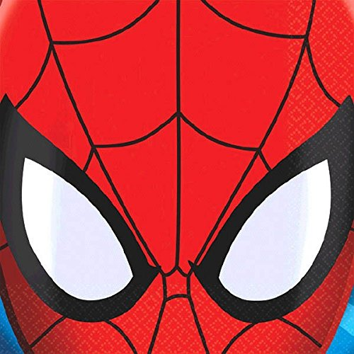 16 Count Spider-Man Beverage Napkins, Multicolored