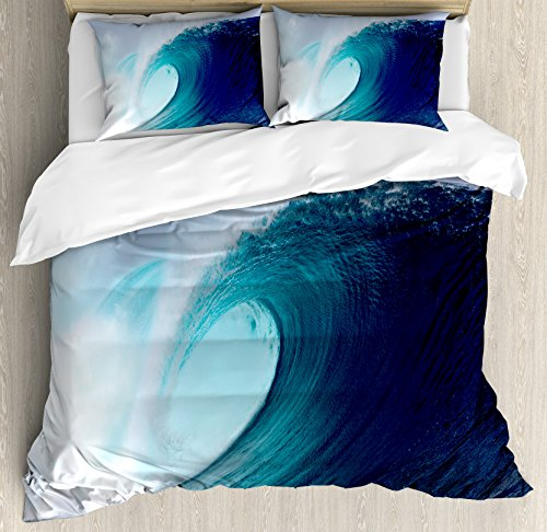 Ocean Decor Queen Size Duvet Cover Set by