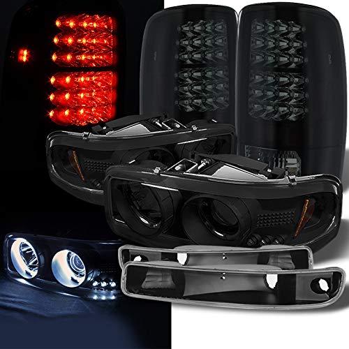04 gmc sierra halo headlights - 2