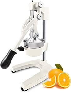 ROVSUN Commercial Grade Citrus Juicer Hand Press Manual Fruit Juicer Juice Squeezer Citrus Orange Lemon Pomegranate (White)
